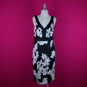 White House Black Market size 10 black white dress